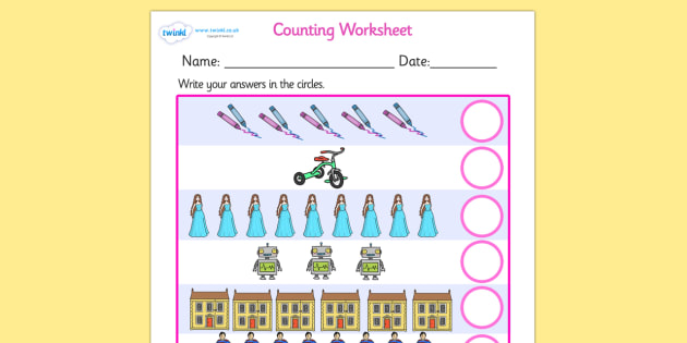 My Counting Worksheet (Toys) - Counting worksheet, Toys, counting, activity, how many, foundation numeracy, counting on, counting back, robot, doll, skateboard, games console, dice, jigsaw, games, dominos, marbles, pogo, doll