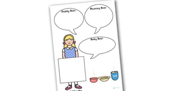Goldilocks Role on the Wall Worksheets - goldilocks, role on the wall, worksheets, goldilocks worksheets, role on the wall worksheets, themed worksheets