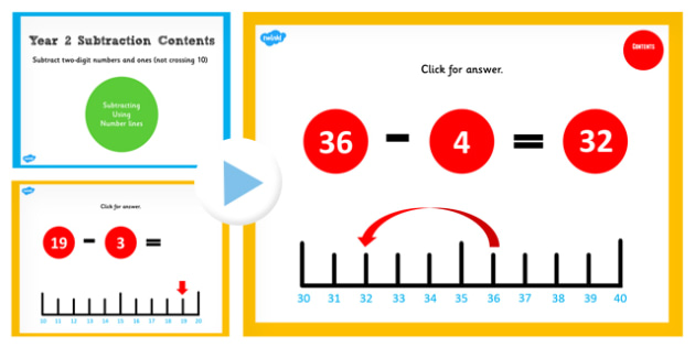 Year 2 Subtracting 2 Digit Number and Ones Not Crossing 10 Number