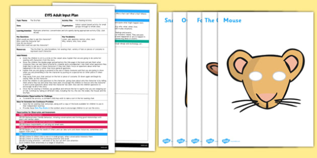 Hot Seating Acitvity to Support Teaching on The Gruffalo EYFS Adult Input Plan - EYFS, Early Years planning, adult led, Julia Donaldson, role play, C&L