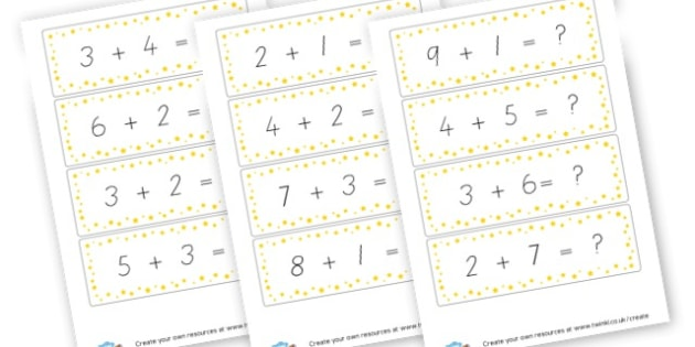 Facts to 10 Cards - Calculation Primary Resources, maths, add, subtract, calculation