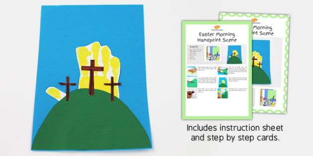 Easter Morning Handprint Craft Instructions - craft, instructions