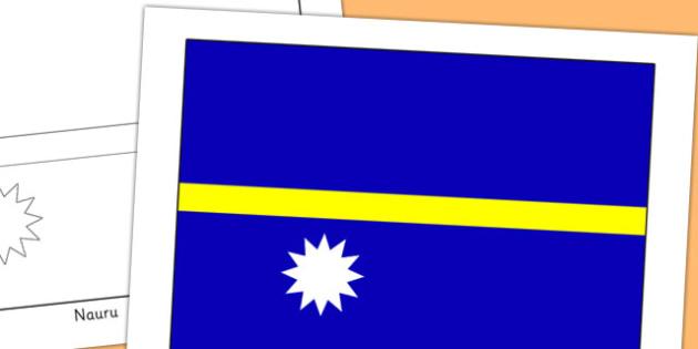Nauru Flag Display Poster - countries, country, geography