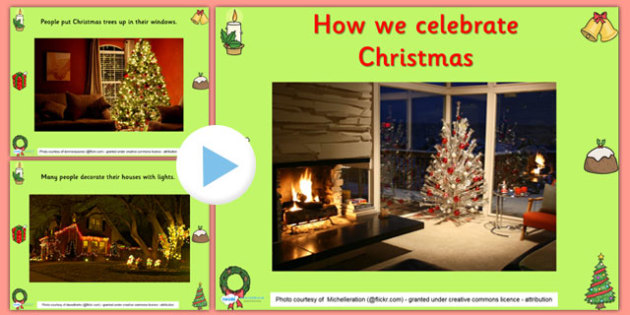 Celebrating Christmas Infomation PowerPoint - christmas, info