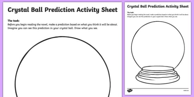 Crystal Ball Prediction Activity Sheet Pack-Irish, worksheet
