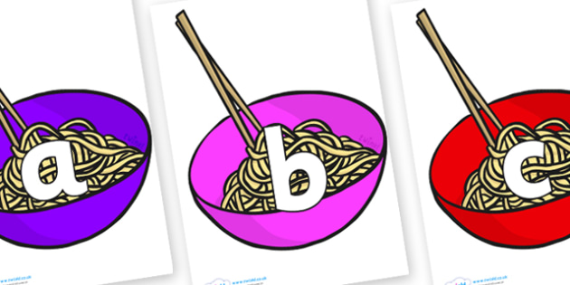 Phoneme Set on Chinese Noodles - Phoneme set, phonemes, phoneme, Letters and Sounds, DfES, display, Phase 1, Phase 2, Phase 3, Phase 5, Foundation, Literacy