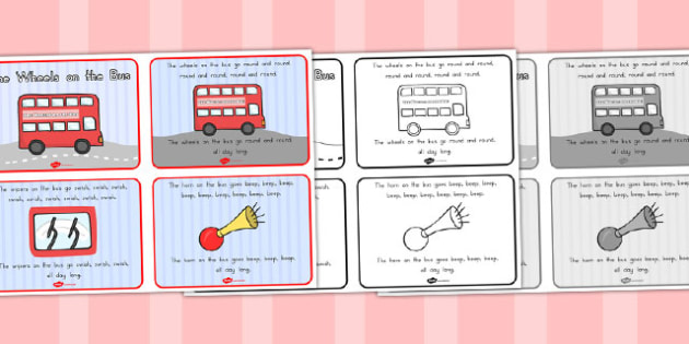 The Wheels on the Bus Story Sequencing 4 per A4 - australia, bus