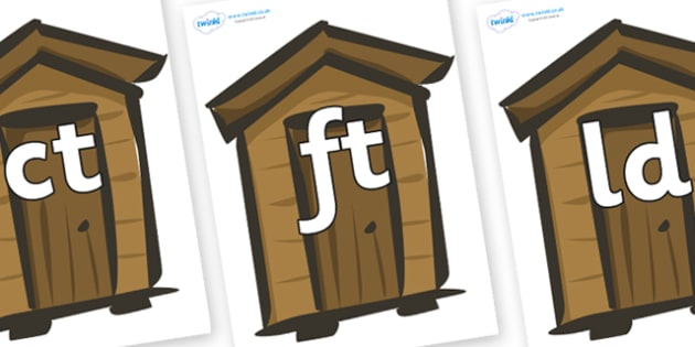 Final Letter Blends on Sheds - Final Letters, final letter, letter blend, letter blends, consonant, consonants, digraph, trigraph, literacy, alphabet, letters, foundation stage literacy