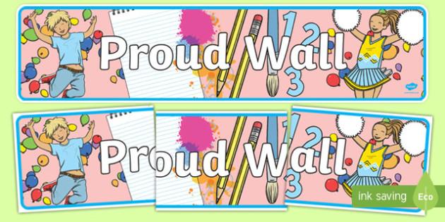 Proud Wall Display Banner - proud wall, display banner, display, banner, proud, wall