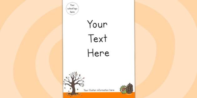 Autumn Editable Themed Letter Home Letter Header - seasons