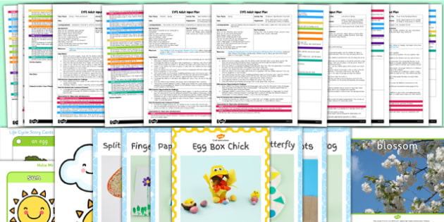EYFS Spring Adult Input Planning and Resource Pack - adult led, pack