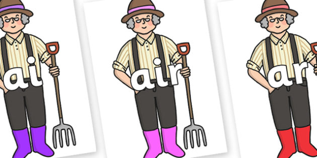 Phase 3 Phonemes on Enormous Turnip Farmer - Phonemes, phoneme, Phase 3, Phase three, Foundation, Literacy, Letters and Sounds, DfES, display