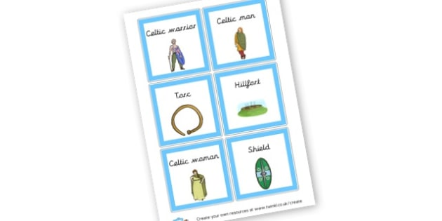Celtic Word Cards - General History Primary Resources,History,Primary,Resources