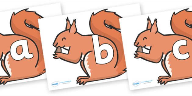 Phoneme Set on Red Squirrels - Phoneme set, phonemes, phoneme, Letters and Sounds, DfES, display, Phase 1, Phase 2, Phase 3, Phase 5, Foundation, Literacy