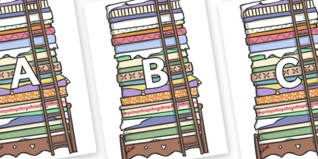 A-Z Alphabet on Beds - A-Z, A4, display, Alphabet frieze, Display letters, Letter posters, A-Z letters, Alphabet flashcards
