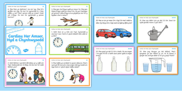 Time, Length and Capacity Problem Solving Challenge Cards