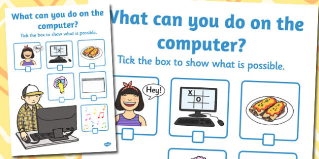 What Can You Do On the Computer Activity Sheet - activity, sheet, worksheet