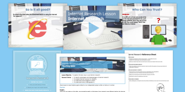 Internet Research Lesson Pack - research, internet, online, independent, project, bibliography, plagiarism, website