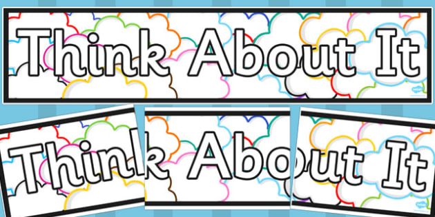 Think About It Display Banner - think about it, display banner, display, banner