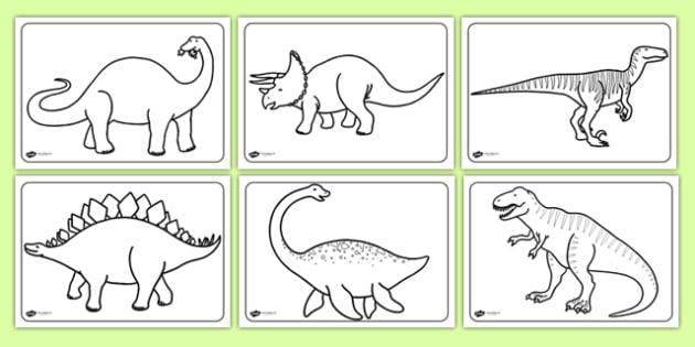Dinosaurs Colouring Sheets - education, home school, free, fun