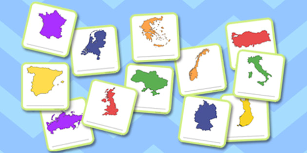 What a Wonderful World European Country Matching Cards - wonderful, world