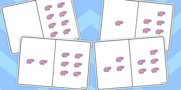Hippo Counting Number Bonds to 8 - numbers, counting, numeracy