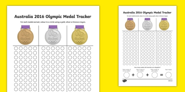2016 Australia Olympic Medal Count and Add Activity Sheet - australia, 2016, australia, olympics, rio olympics, 2016 olympics, rio 2016, medal, count, add, worksheet