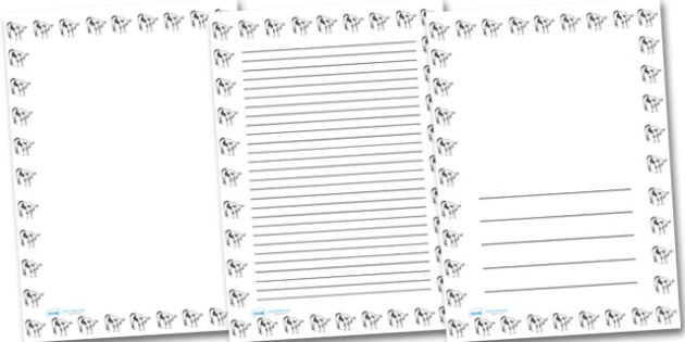 Calf Portrait Page Borders- Portrait Page Borders - Page border, border, writing template, writing aid, writing frame, a4 border, template, templates, landscape