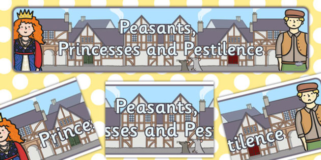 Peasants Princesses and Pestilence Display Banner - display