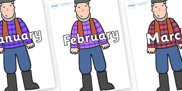 Months of the Year on Farmer to Support Teaching on What the Ladybird Heard - Months of the Year, Months poster, Months display, display, poster, frieze, Months, month, January, February, March, April, May, June, July, August, September