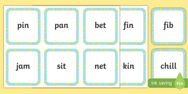 Phase 2 CVC Words - CVC Words Primary Resources, CVC, consonant, vowel, CVC word