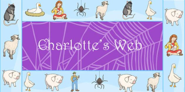 Charlotte's Web Display Borders - story book, display border, web