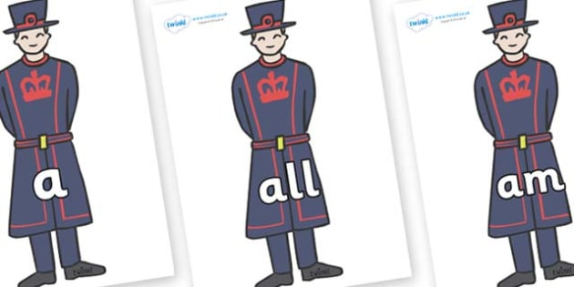 Foundation Stage 2 Keywords on Beefeaters - FS2, CLL, keywords, Communication language and literacy,  Display, Key words, high frequency words, foundation stage literacy, DfES Letters and Sounds, Letters and Sounds, spelling