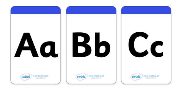 Alphabet Cards - alphabet, education, home school, free, kids