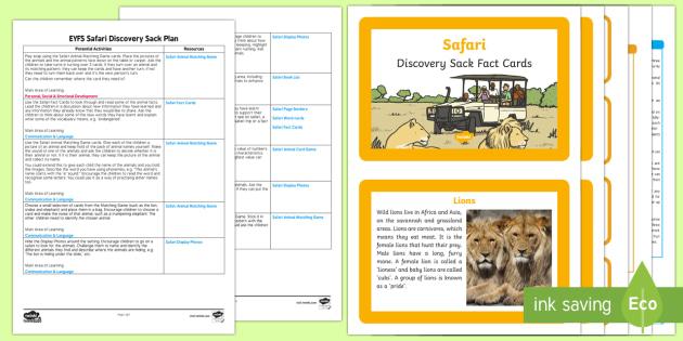 EYFS Safari Discovery Sack - EYFS, safari, jungle, rainforest