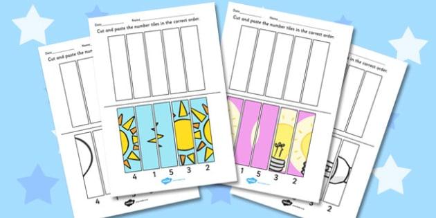 Light and Dark Cutting Skills Worksheet - Light, Dark, Cut, Shade