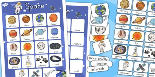 Space Vocabulary Poster - Posters, Display, Displays, Visual