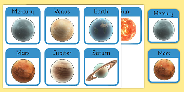 The Planets Detailed Image Flashcards - the planets, detailed, image, flash cards, flashcards