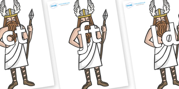 Final Letter Blends on Viking Gods - Final Letters, final letter, letter blend, letter blends, consonant, consonants, digraph, trigraph, literacy, alphabet, letters, foundation stage literacy