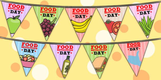 Food Revolution Day Display Bunting - food revolution, display