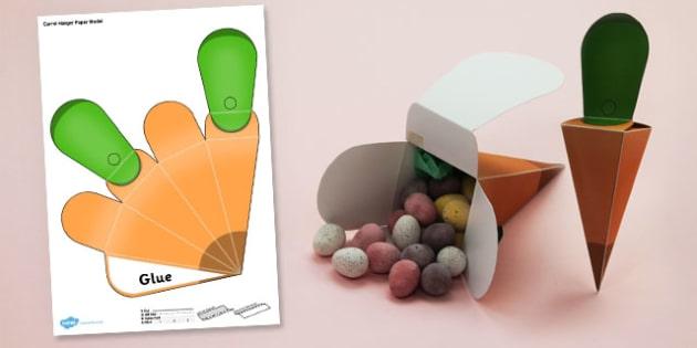 Carrot Hanger Paper Model - carrot, hanger, paper, model, craft