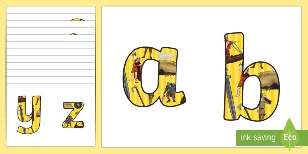 Vikings Themed A4 Display Lettering - vikings, lettering, display