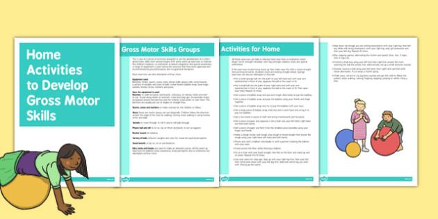 Activities for Home Use Gross Motor Skills Activities - gross