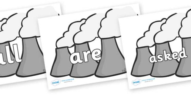 Tricky Words on Power Plant - Tricky words, DfES Letters and Sounds, Letters and sounds, display, words