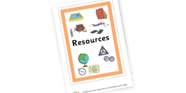 Resources Poster - Resource Labels Primary Resources, resource, label, drawer labels