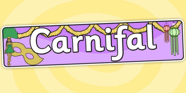 Baner 'Carnifal' - carnifal, carnival, header, banner, welsh, cymraeg