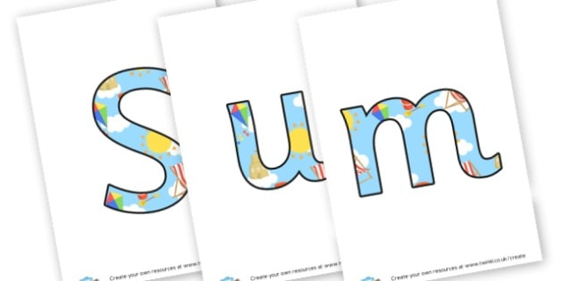 Summer 2 Display Lettering - display lettering - Summer Display  Primary Resources,Primary,Summer,Display,Posters