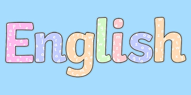 English with Letters Title Display Lettering - english, letters, title, display lettering