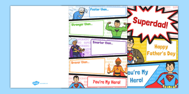 Father's Day Superheroes Card - australia, fathers day, superhero