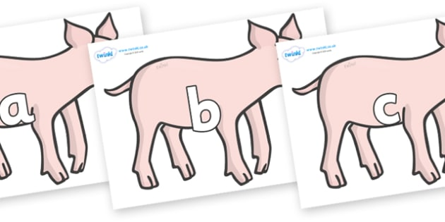 Phase 2 Phonemes on Piglets - Phonemes, phoneme, Phase 2, Phase two, Foundation, Literacy, Letters and Sounds, DfES, display